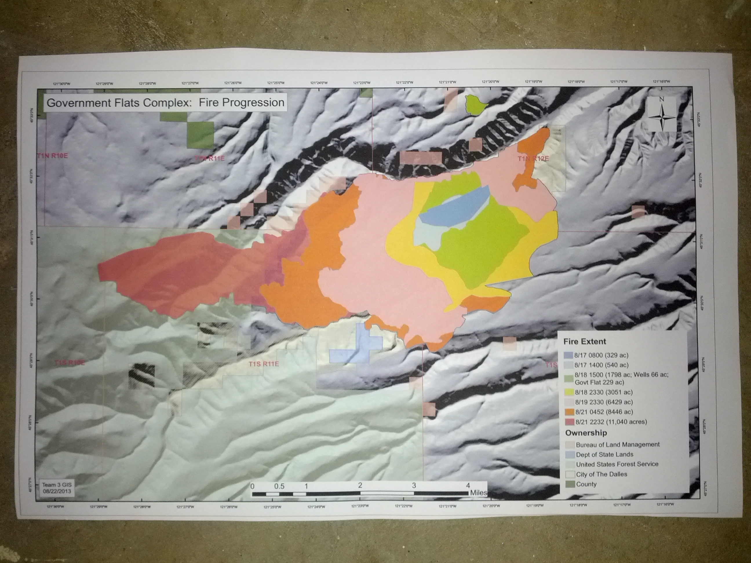 Blackburn Fire Fire Progression Map 20130822