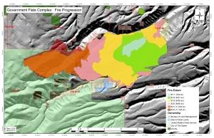 Blackburn Fire fire progression map 20130824